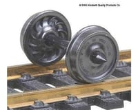"HO Metal Wheels, 36""/Ribbed (12)"