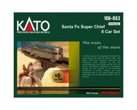 Kato N Passenger Car Set, SF/Super Chief (8)