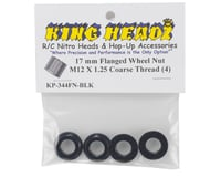 Image 2 for King Headz 17mm Coarse Thread Flanged Wheel Nut (Black) (4)