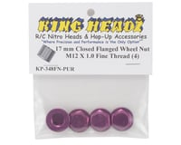 Image 2 for King Headz 17mm Fine Thread Flanged Closed End Whe