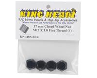 Image 2 for King Headz 17mm Fine Thread Closed End Wheel Nut (Black) (4)
