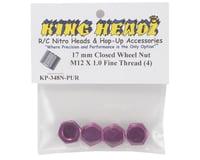 Image 2 for King Headz 17mm Fine Thread Closed End Wheel Nut (