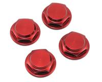 King Headz 17mm Coarse Thread Flanged Closed End Wheel Nut (Red) (4) (OFNA Jammin X1-CRT)