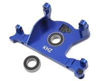 Image 1 for King Headz Traxxas Slash 4x4 LCG/Rally Aluminum Motor Mount w/Bearing (Blue)