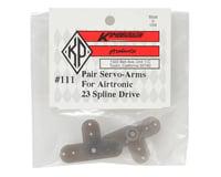 Image 2 for Kimbrough 23 Spline Servo Arms for KO/Airtronics/JR Servos (2)