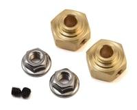 Team KNK 12mm Brass Hex w/Step (2) (6mm)
