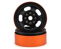 Team KNK 5 Slot 1.9 Aluminum Beadlock Wheel (Black) (2)