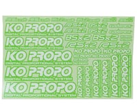 KO Propo Decal Sheet (Green)