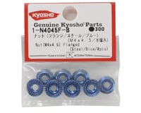 Image 2 for Kyosho 4x4.5mm Steel Flanged Nut (Blue) (8)