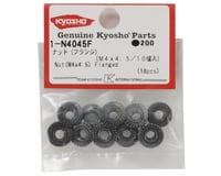 Image 2 for Kyosho 4x4.5mm Steel Flanged Nut (10)