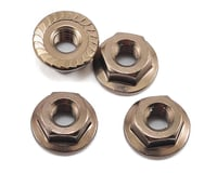 Image 1 for Kyosho 4x4.5mm Aluminum Flanged Locknut (Gun Metal) (4)