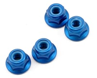 Kyosho 4x4.5mm Aluminum Flanged Locknut (Blue) (4) | relatedproducts