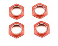 Image 1 for Kyosho Wheel Nut W/Nylon (Red) (4)