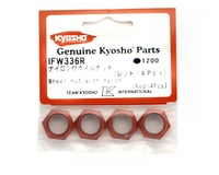 Image 2 for Kyosho Wheel Nut W/Nylon (Red) (4)