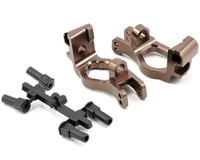 Kyosho Inferno MP9 TKI3 Aluminum Front Hub Carrier Set (Gunmetal)