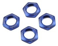 Kyosho 17mm 1/8 Serrated Wheel Nut (Blue) (4) | relatedproducts
