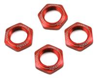 Kyosho 17mm 1/8 Serrated Wheel Nut (Red) (4)
