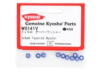 Image 2 for Kyosho 3x6mm Blue Aluminum Tapered Washers (10)