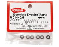 Kyosho 3x7x2mm Aluminum Washer (Gun Metal) (6)