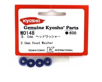 Image 2 for Kyosho 3mm Blue Aluminum Tapered Head Washers (4)