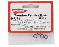 Image 2 for Kyosho 5x7mm Aluminum Servo Saver Collar Set (Blue) (4)