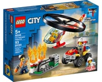 LEGO City Fire Helicopter Response 60248 Firefighter Toy (93 Pieces)