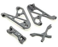 Losi Rock Rey Front Shock Tower & Camber Link Mount (Gray)