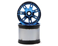 Losi LST 3XL-E 17mm Hex Monster Truck Wheel (Blue Chrome) (2)