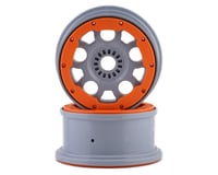 "Losi DBXL-E 2.0 4.75"" 1/5 Beadlock Wheels w/24mm Hex (Silver/Orange) (2)"
