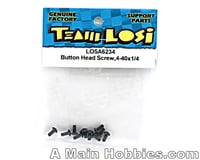 "Image 2 for Losi 4-40x1/4"" Button Head Screws (10)"