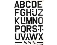 "Major Decals 427PB Pressure Decal Alphabet Black 3"""