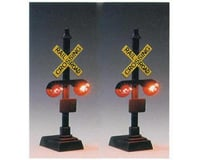 Model Power HO 2-Light Railroad Crossing Signals w/Relay (2)