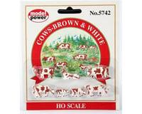 Model Power HO Cows & Calves (7) (Brown/White)