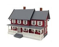 Model Power HO Built-Up Stevenson's House
