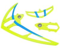 Mikado Logo 550SX V2 Tail Rotor Fin Set (Neon Yellow)