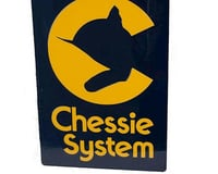"8"" Die-Cut Metal Sign, Chessie 