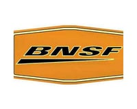 "10"" Die-Cut Metal Sign, BNSF/Wedge 