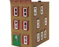 MTH Trains O 3-Story Town House #2, Tan/Red