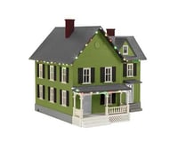 MTH Trains O #6 Farm House w Operating Christmas Lights (Green)