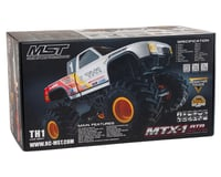 Image 7 for MST MTX-1 RTR 2WD Monster Truck w/TH1 Body (White)