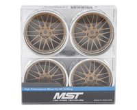 Image 4 for MST S-GD 21 Wheel Set (Gold) (4) (Offset Changeable)