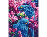Needle Art World *BC* BLUE PARROTS 16.5X20.5