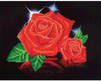 Needle Art World Diamond Dotz DD5.002 Red Rose Sparkle Diamond Facet Craft Kit
