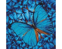 Needle Art World *BC* FLUTTER BY BLUE 12X12