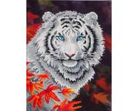 Needle Art World Diamond Dotz DD7.006 White Tiger in Autumn