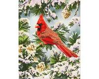 Needle Art World Good Fortune Cardinal 14.6 X 18.5