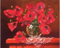 Needle Art World Diamond Dotz DD9.002 red poppies Diamond Facet Craft kit