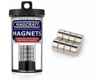"""National Imports  / Magcraft 1/2""""x1/4"""" Rare Earth Disc Magnets (8)"""