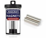 """Image 2 for National Imports  / Magcraft 3/8""""x1/16"""" Rare Earth Disc Magnets (40)"""