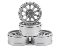 Pit Bull Tires Raceline Clutch 1.9 Aluminum Beadlock Wheels (Silver) (4)